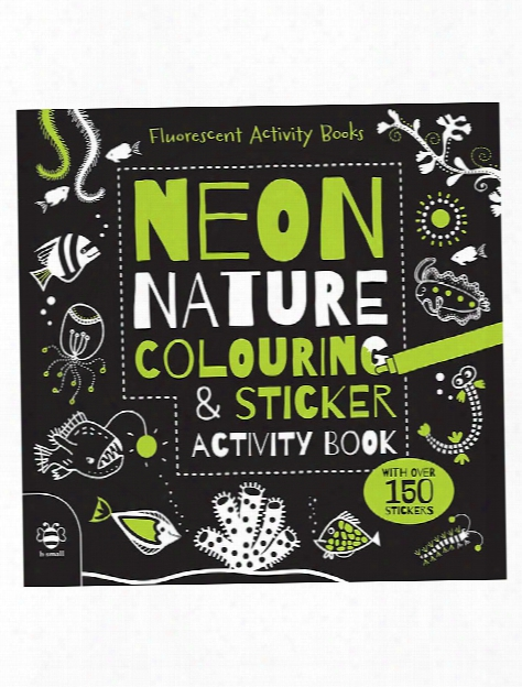 Neon Nature Colouring & Sticker Activity Book Each