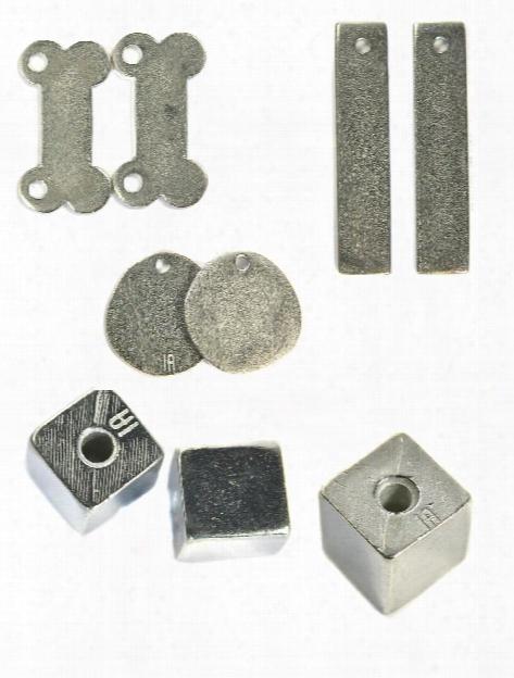 Pewter Metal Blanks Cube 3 8 In. Pack Of 2