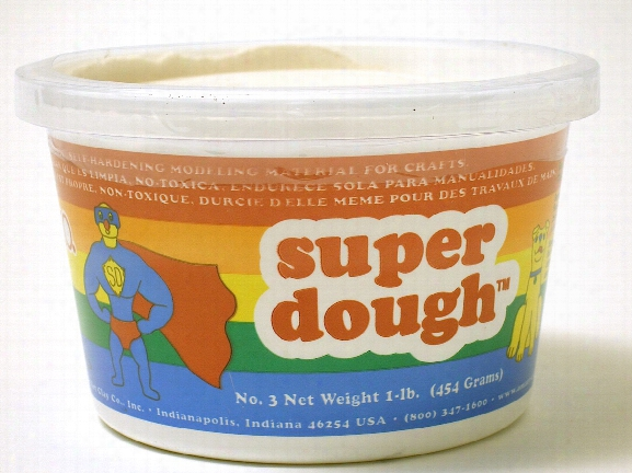 Super Dough Modeling Compound White 1 Lb.
