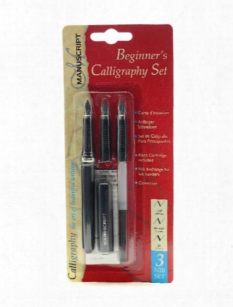3 Nib Beginners Calligraphy Set Right Handed