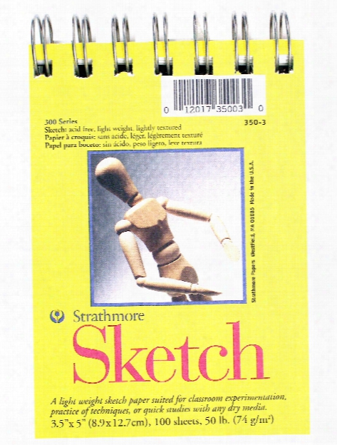 300 Series Sketch Pads 9 In. X 12 In. Wire Bound 100 Sheets