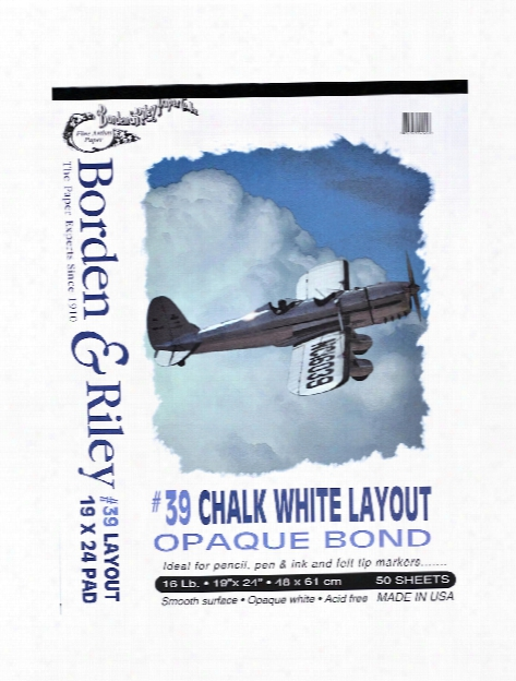#39 Opaque Layout Bond Pads 19 In. X 24 In. Pad Of 50