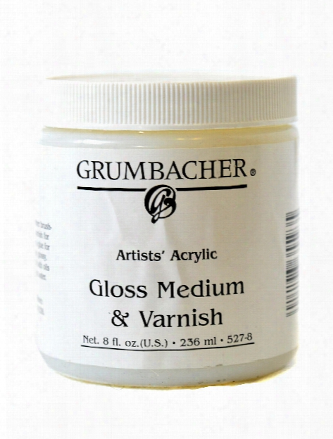 Acrylic Gloss Medium & Varnish 8 Oz. Jar