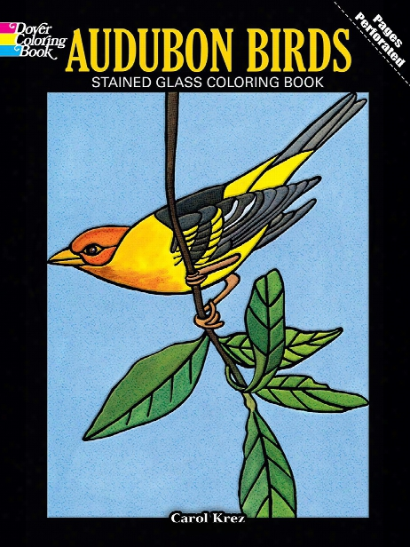 Audubon Birds Stained Glass Coloring Book Audubon Birds Stained Glass Coloring Book