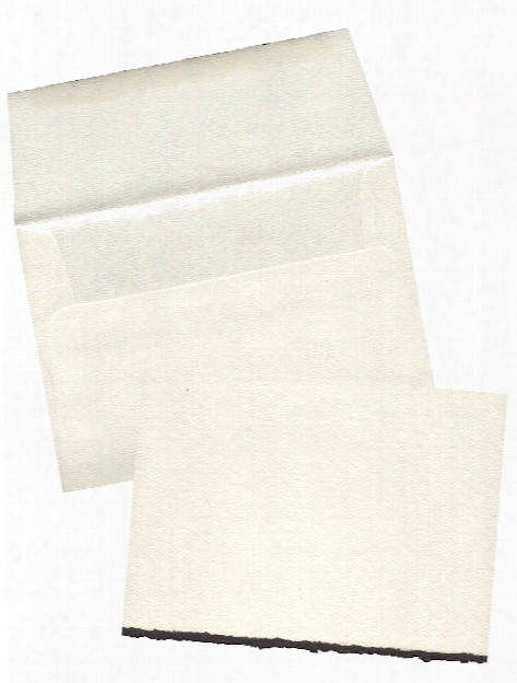 Blank Greeting Cards With Envelopes Flourescent White With Same Deckle Pack Of 50