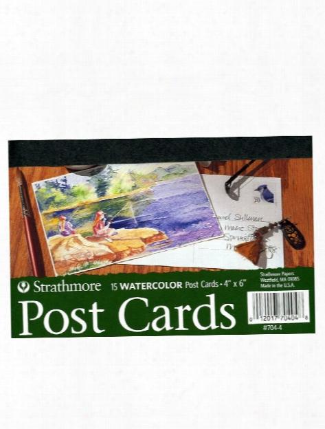 Blank Watercolor Postcards Pad Of 15