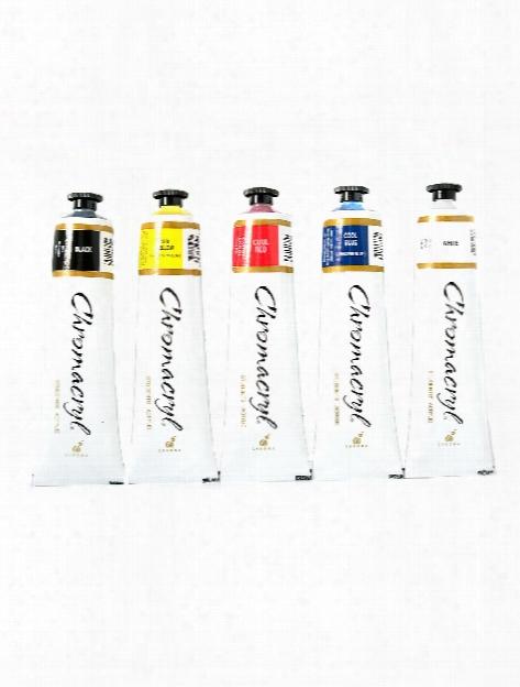 Chromacryl Students' Acrylic Paint Set Set Of 5