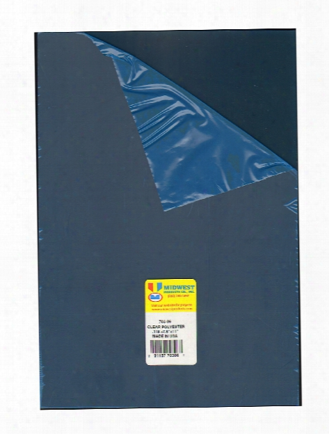 Clear Polyester Sheets 0.030 In. 0.75 Mm 12 In. X 24 In.