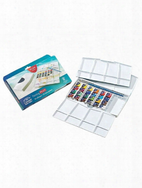 Cotman Water Colour Painting Plus Set - Half Pans Each