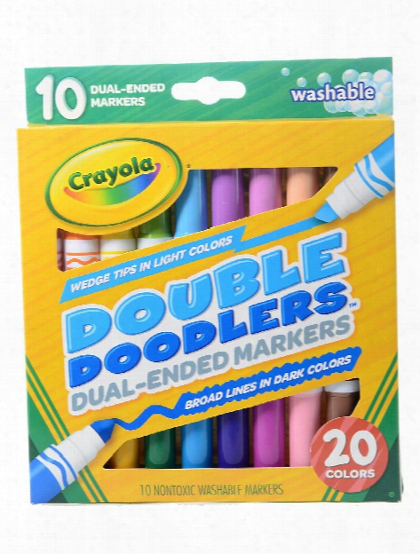 Double Doodlers Markers Dual Tip Set Of 10