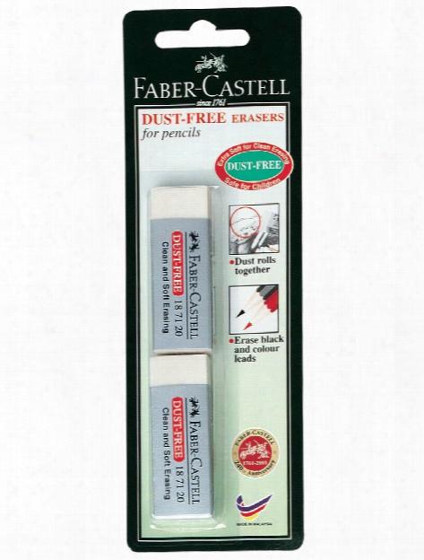 Dust-free Vinyl Erasers Pack Of 2