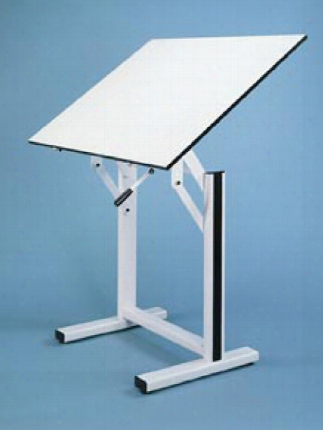 Ensign Drafting Table 31 In. X 42 In. White Top With Black Base