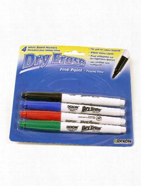 Fine Tip Dry Erase Marker Set Set Of 4