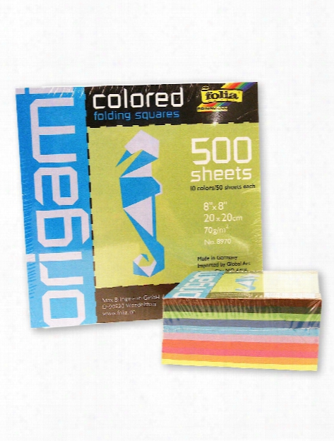 Folia Origami Colored Folding Squares Assorted Colors 6 In. X 6 In. 500 Sheets
