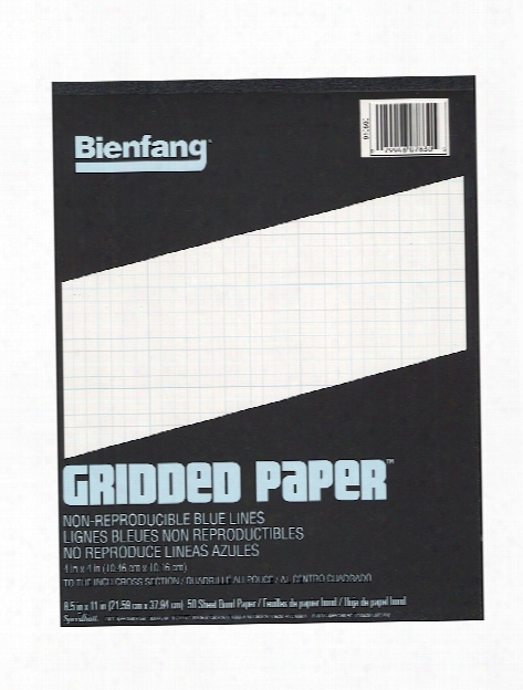 Gridded Paper 10 X 10 8 1 2 In. X 11 In. Pad Of 50