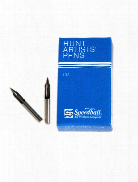 Hunt Artists' Pen Nibs-crow Quill No. 102 Pack Of 2