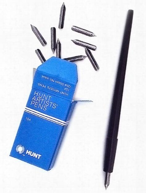 Hunt Artists' Pen Nibs-finest No. 104 Box Of 12
