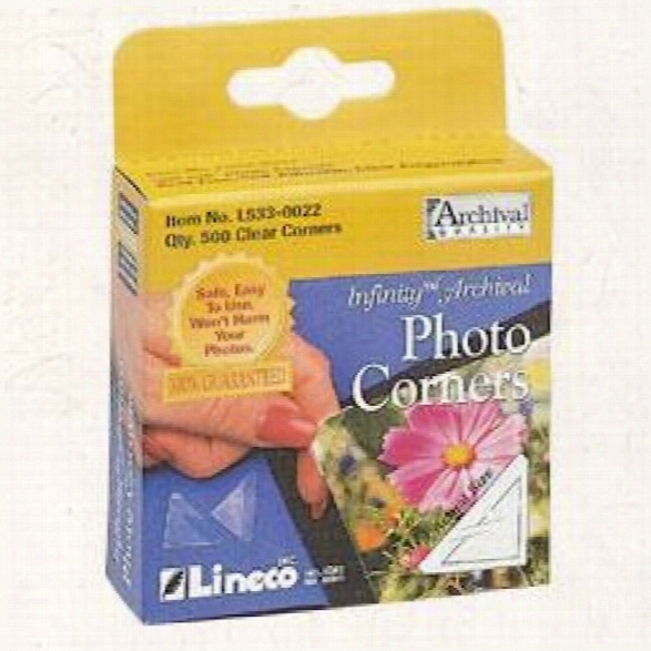 Infinity Clear Photo Corners Pack Of 500