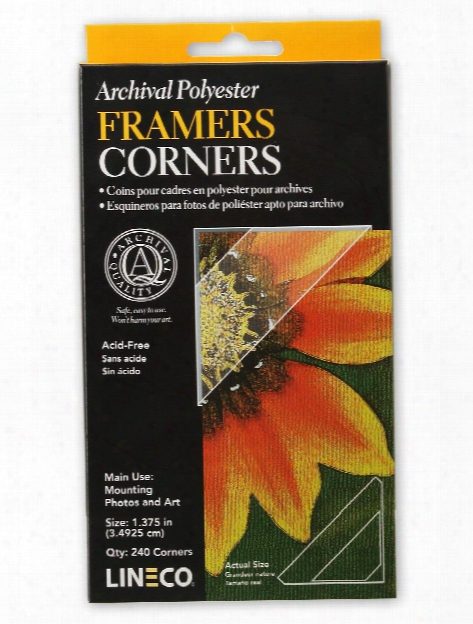 Infinity Mylar Framers Corners Pack Of 240