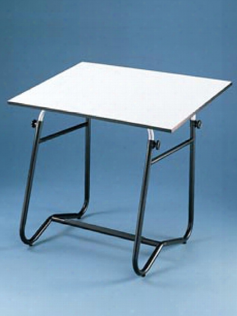 Integra Drafting Table 30 In. X 42 In. White Top With Black Base