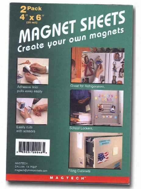 Magnet Sheets 4 In. X 6 In. Pack Of 2