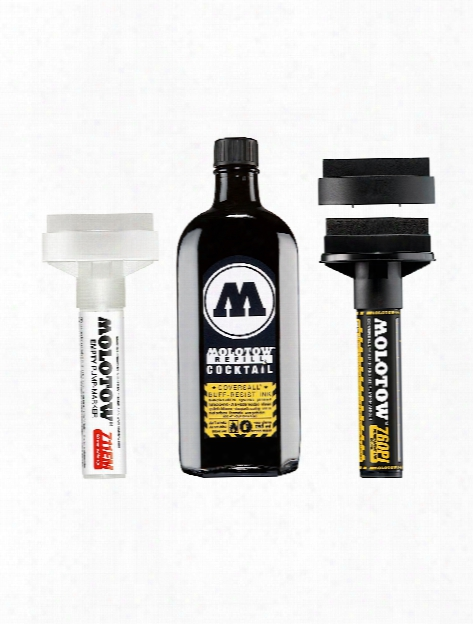 Masterpiece Paint Markers Coversall Cocktail Buff-resist Pump Marker Signal Black 60 Mm