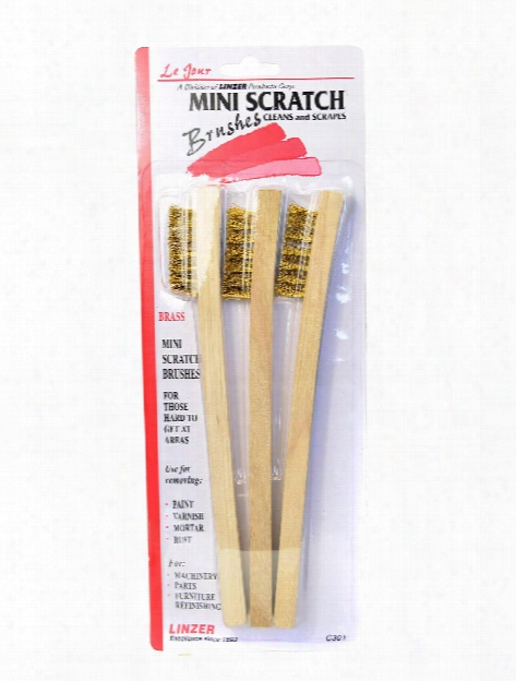 Mini-wire Brushes Pack Of 3