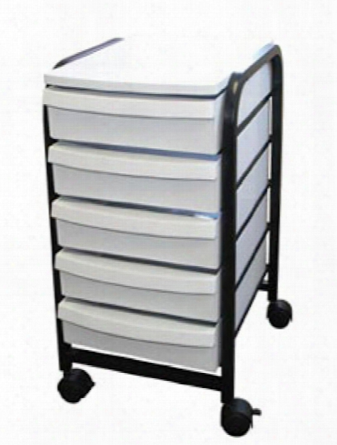 Mobile Organizer White Drawers With Black Frame