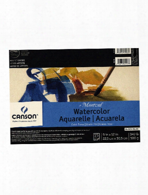 Montval Watercolor Paper 10 In. X 7 In. Wire Bound Book Of 20 140 Lb. Cold Press