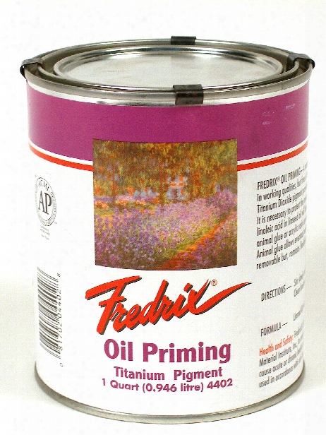 Oil Priming - Titanium Dioxide Quart Can