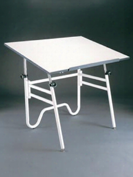 Opal Drafting Table 24 In. X 36 In. White Top With Black Base
