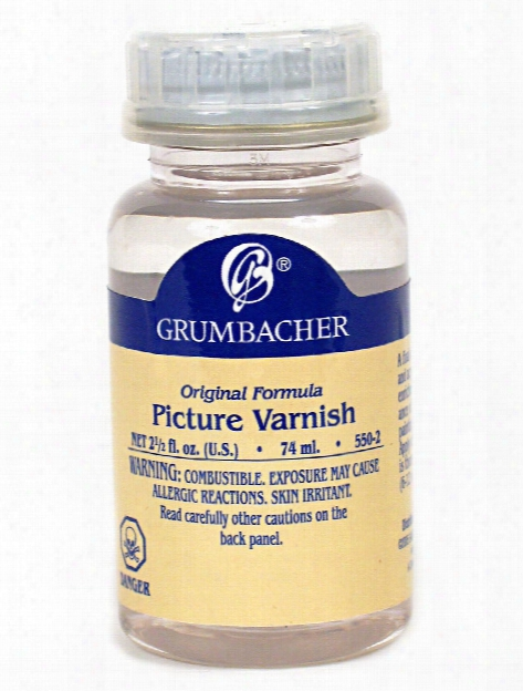 Picture Varnish (crystal Clear Acrylic Resin) 2 1 2 Oz. Bottle