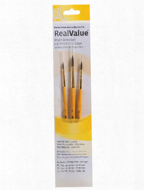 Real Value Series 9000 Yellow Handle Brush Sets 9101 Set Of 3