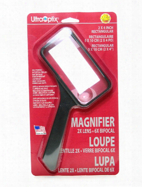 Rectangular Magnifier 2 In. X 4 In. 2x (6x Bifocal)