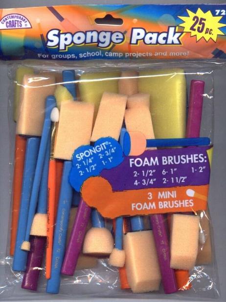 Sponge Pack Brushes Pack Of 25