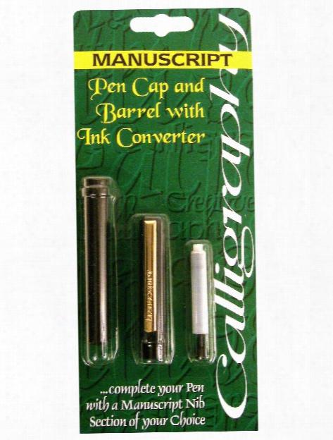 Standard Calligraphy Pen Cap And Barrel With Ink Converter Cap, Barrel And Converter