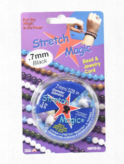 Stretch Magic Bead & Jewelry Cord Silver 0.7 Mm 5 M