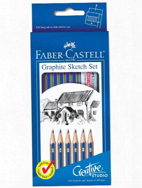 Studio Graphite Sketch Pencils Art On The Go Set Of 12