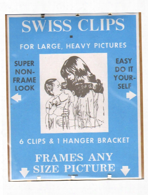 Swiss Clips For Medium-sized Pictures Pack Of 4