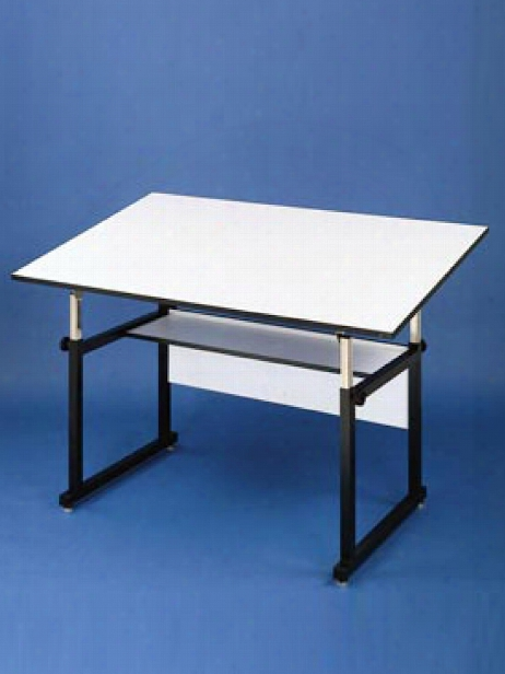 The Workmaster 36 In. X 48 In. White Top With Black Base