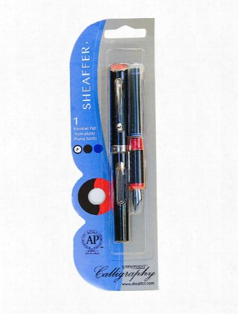 Viewpoint Calligraphy Fountain Pen Medium Black Ink