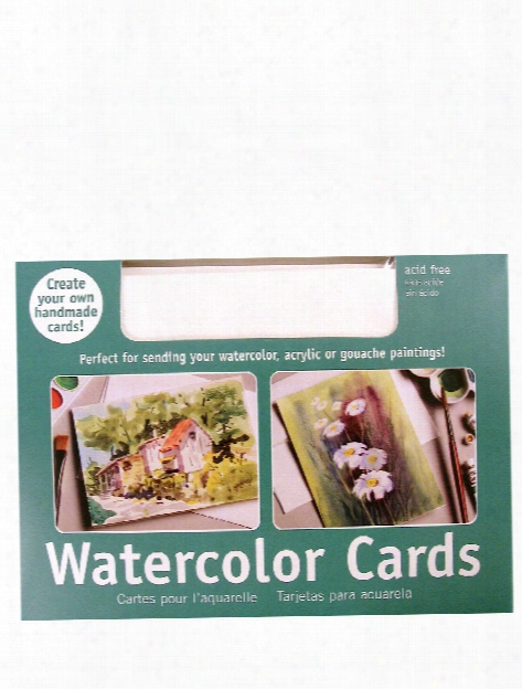 Watercolor Blank Greeting Card Pack Of 50