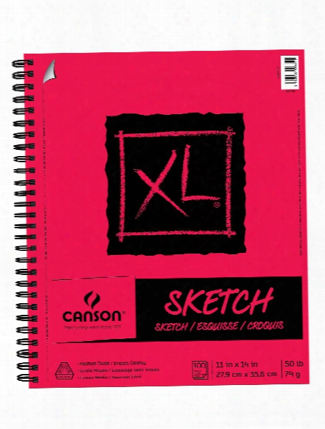 Xl Sketch Pads 18 In. X 24 In. Pad Of 125 Fold-over