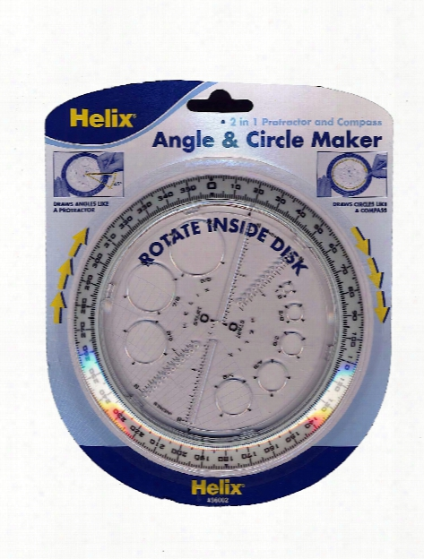 Angle & Circle Maker Protractor Compass