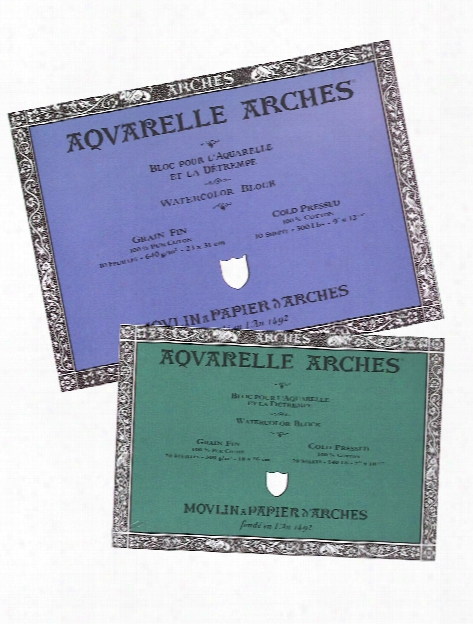 Aquarelle Watercolor Block 140 Lb. Cold Press 14 In. X 20 In.