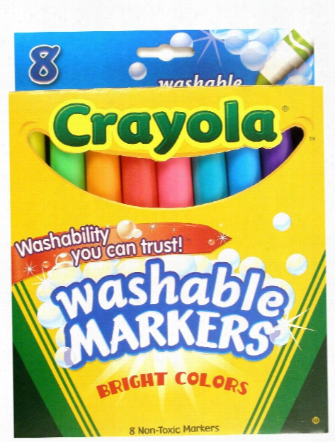 Bright Colors Ultra-clean Washable Markers Pack Of 8