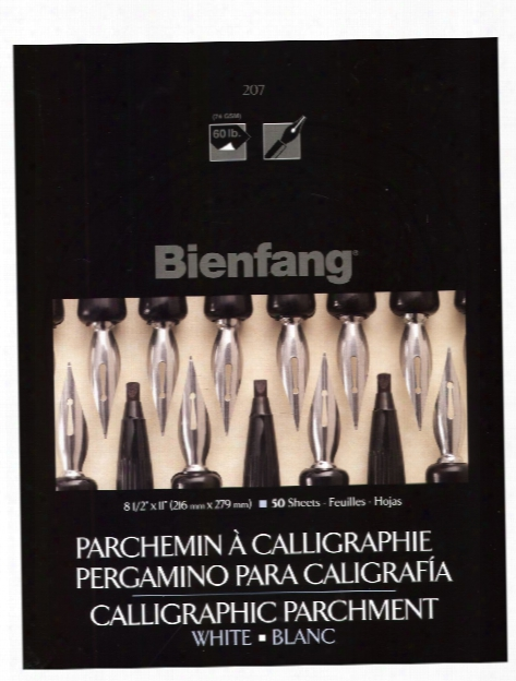 Calligraphic Parchment Pads 8 1 2 In. X 11 In. Assorted 50 Sheets