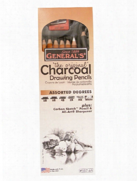 Charcoal Drawing Pencils Set Set Of 6