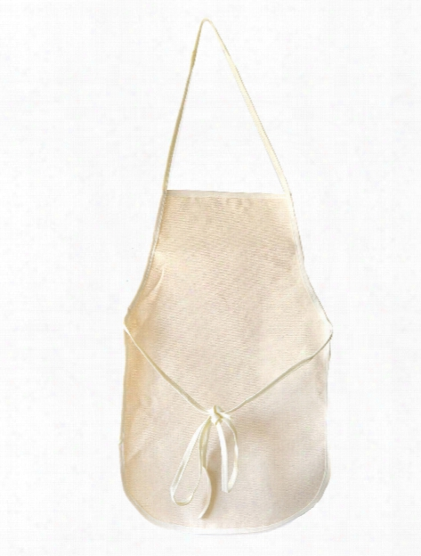 Children's Aprons With Pockets 12 In. X 19 In. Natural
