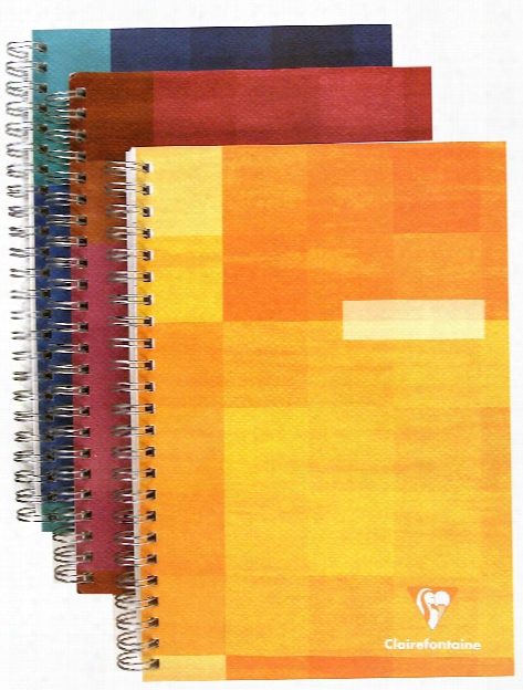 Classic Wirebound Notebook With Pocket Dividers 6 In. X 8 1 4 In.